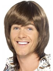 1970's Heart Throb Wig In Brown